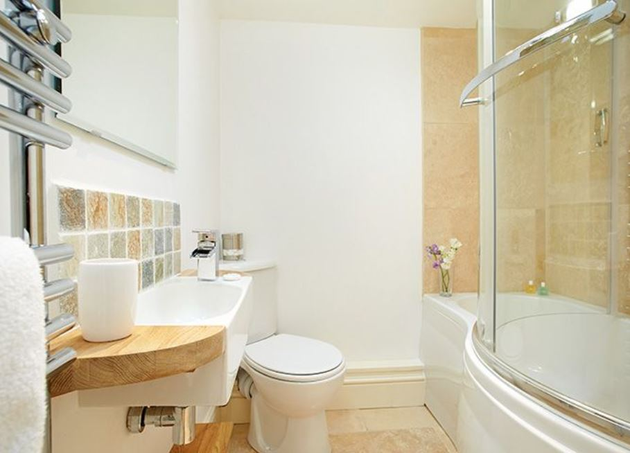 Bathroom at Wye Valley holiday home