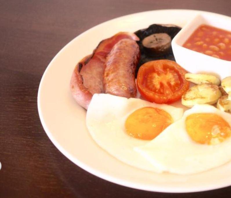 Breakfast at hotel near Ross on Wye