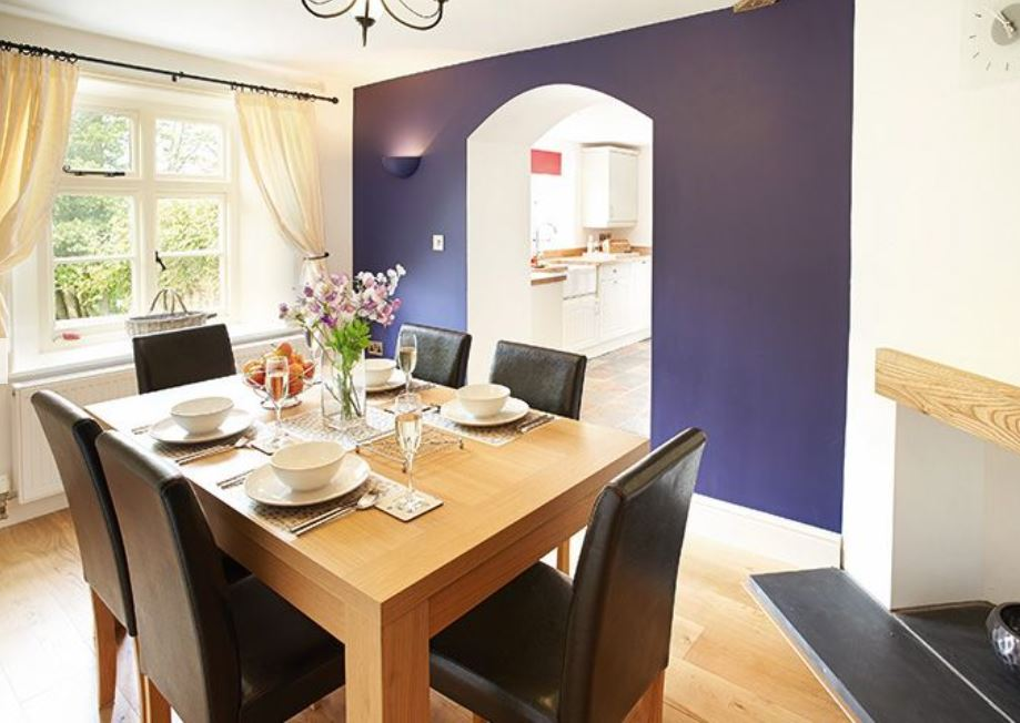 Dining room at Wye Valley cottage