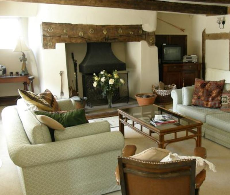 Guest lounge at B&B near Ross on Wye