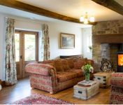 Guest lounge at bed and breakfast near Ross on Wye