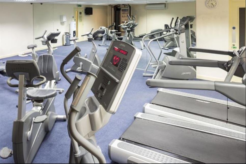 Gym at hotel near Ross on Wye