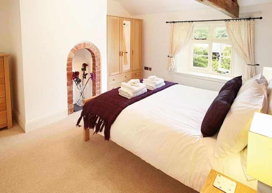 Master bedroom at Wye Valley self catering