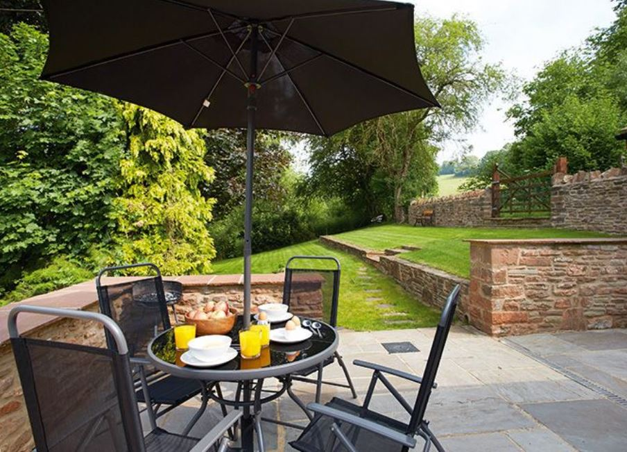 Patio at Wye Valley holiday home