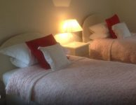 Twin room at bed and breakfast near Ross on Wye