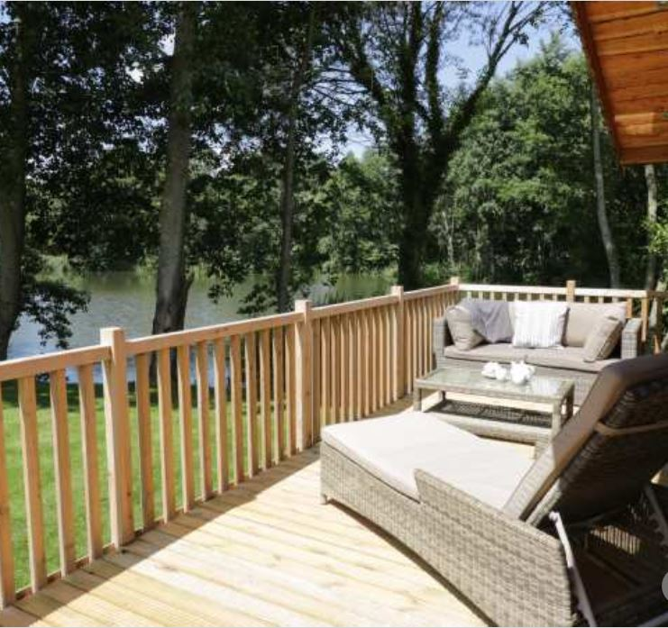Enjoy the decking at self catering Ross on Wye