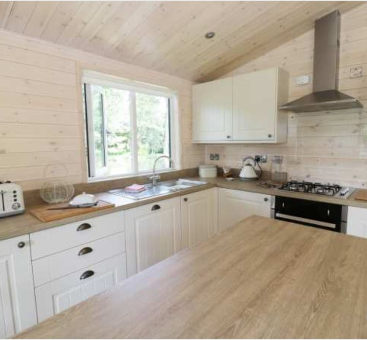 Kitchen diner at self catering near Ross on Wye