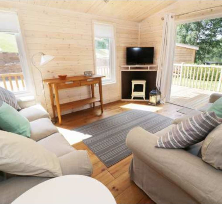 Living area at self catering near Ross on Wye
